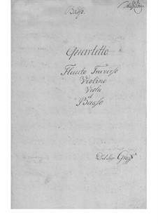 Quartet for Flute and Strings in E Flat Major: Quartet for Flute and Strings in E Flat Major by Friedrich Hartmann Graf