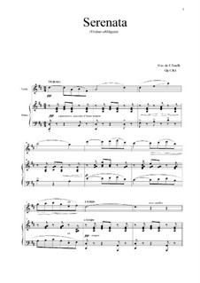 Serenade: For violin, tenor and piano, Op.6 No.1 by Enrico Toselli