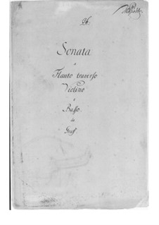 Trio Sonata in C Major: Parts by Friedrich Hartmann Graf