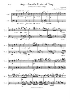 Angels from the Realms of Glory: Variations, for cello duo by folklore