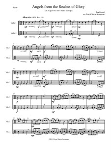 Angels from the Realms of Glory: Variations, for viola duo by folklore