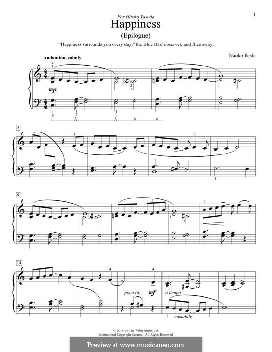 Happiness (Epilogue): For piano by Naoko Ikeda