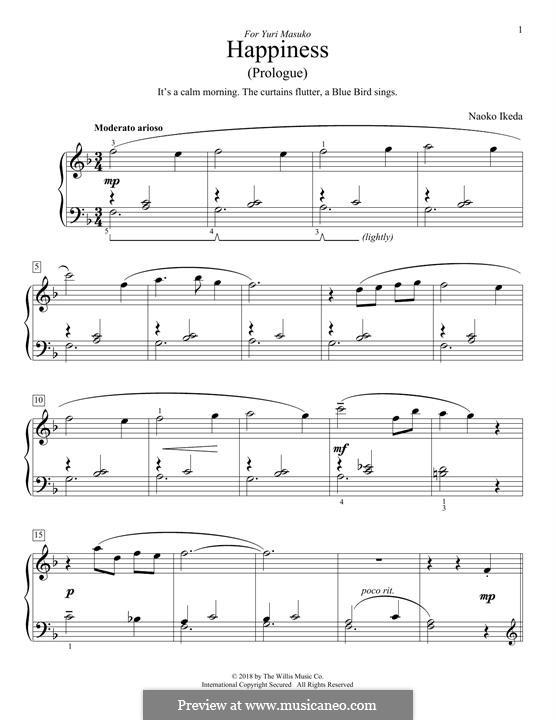 Happiness (Prologue): For piano by Naoko Ikeda