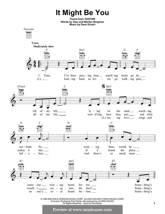 It Might Be You: For ukulele by Dave Grusin