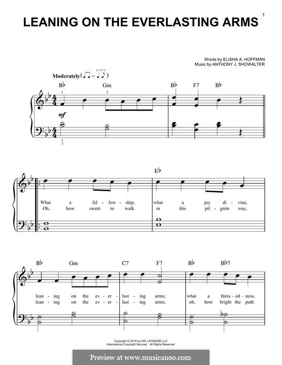 Leaning on the Everlasting Arms: For piano by Anthony J. Showalter