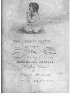 The Infant's Prayer: The Infant's Prayer by Vincent Novello