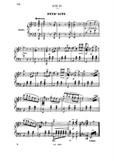 Madame Favart: Act III. Arrangement for soloists, choir and piano by Jacques Offenbach