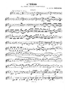 Piano Trio No.1 in A Major, Op.8: Violin part by Napoléon Henri Reber