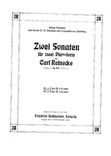 Two Sonatas for Two Pianos, Op.275: Two Sonatas for Two Pianos by Carl Reinecke