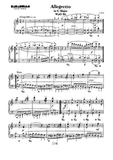 Allegretto in C Major, WoO 56: For piano by Ludwig van Beethoven