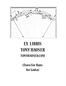 Choro for Hans for Guitar: Choro for Hans for Guitar by Tony Hauser