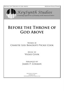 Before the Throne of God Above: Piano-vocal score by Vickie Cook