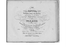 Zwanzig vier fugirte Orgelstücke nebst Uebungen durch alle Tonarten, Op.120: Zwanzig vier fugirte Orgelstücke nebst Uebungen durch alle Tonarten by Christian Heinrich Rinck