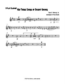 We Three Kings of Orient Swing: For easy woodwind quartet – Bb clarinet part by John H. Hopkins Jr.