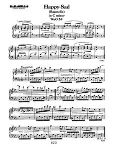 Lustig-Traurig (Happy-Sad), WoO 54: For piano by Ludwig van Beethoven