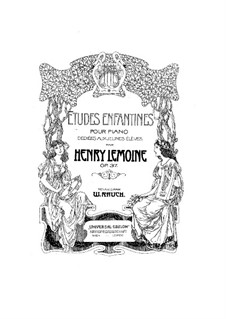 Etudes, Op.37: For piano by Henry Lemoine
