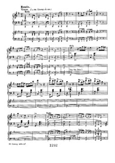Fragments: Movement III, for two pianos four hands by Ludwig van Beethoven