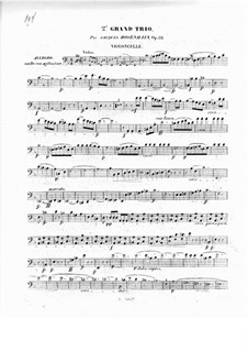 Piano Trio No.2 in D Minor, Op.32: Cello part by Jacob Rosenhain