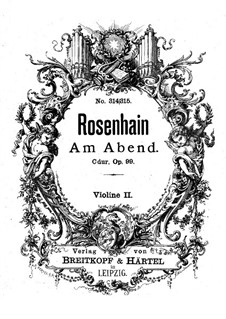 Am Abend (In the Evening), Op.99: Violin II part by Jacob Rosenhain