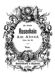 Am Abend (In the Evening), Op.99: Viola part by Jacob Rosenhain