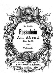 Am Abend (In the Evening), Op.99: Cello part by Jacob Rosenhain