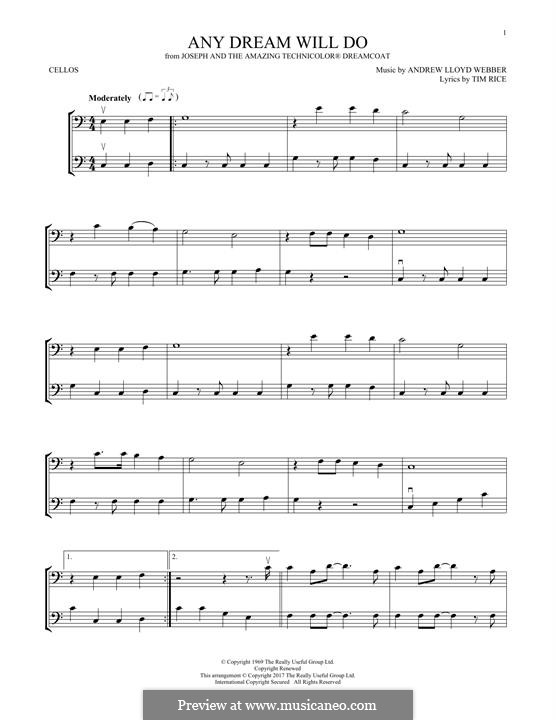 Any Dream Will Do: For two violins by Andrew Lloyd Webber