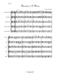 Menuett in D Minor for Recorder Quintet: Menuett in D Minor for Recorder Quintet by Annie Helman