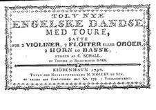 Twelve New English Dances: Edition 1790 by Claus Schall