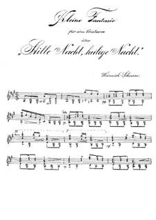 Small Fantasia on Theme 'Silent Night': Small Fantasia on Theme 'Silent Night' by Heinrich Scherrer