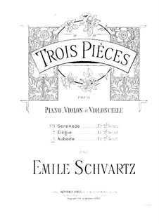 Aubade for Violin, Cello and Piano: Violin part by Émile Schvartz
