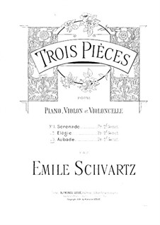 Aubade for Violin, Cello and Piano: Cello part by Émile Schvartz