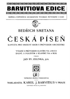 Czech Song: Czech Song by Bedřich Smetana