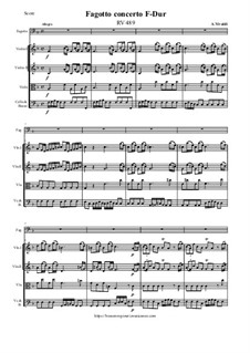 Fagotto concerto F-Dur, RV 489: Fagotto concerto F-Dur by Antonio Vivaldi