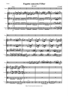 Fagotto concerto F-Dur, RV 487: Fagotto concerto F-Dur by Antonio Vivaldi