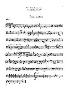 Complete Ballet: Violas part by Pyotr Tchaikovsky