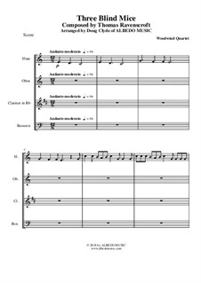 Three Blind Mice: For woodwind quartet by Thomas Ravenscroft