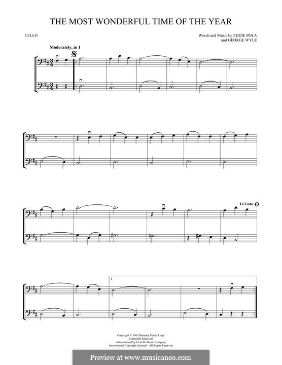 The Most Wonderful Time of the Year: For two violins by George Wyle, Edward Pola