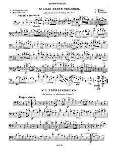 Mélodies choisies: For cello (or violin ad libitum) and piano – cello part by Felix Mendelssohn-Bartholdy
