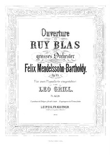 Ruy Blas, Op.95: For two pianos four hands – piano I part by Felix Mendelssohn-Bartholdy