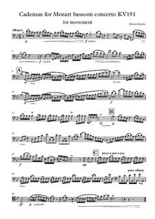 Cadenzas for Mozart bassoon concerto: Cadenzas for Mozart bassoon concerto by Žilvinas Smalys