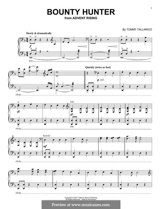 Bounty Hunter: For piano by Tommy Tallarico