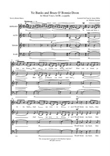 Ye Banks and Braes O' Bonnie Doon: For mixed choir by Charles Miller