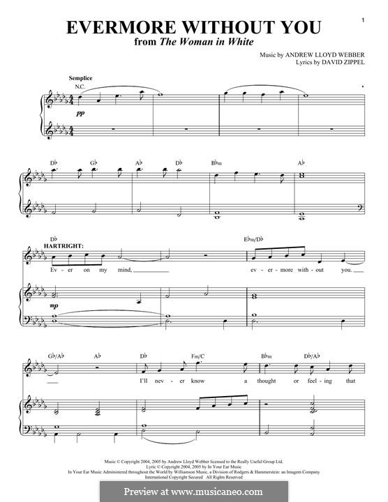 Evermore without You: For voice and piano by Andrew Lloyd Webber