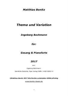 Theme and variation: Theme and variation by Matthias Bonitz