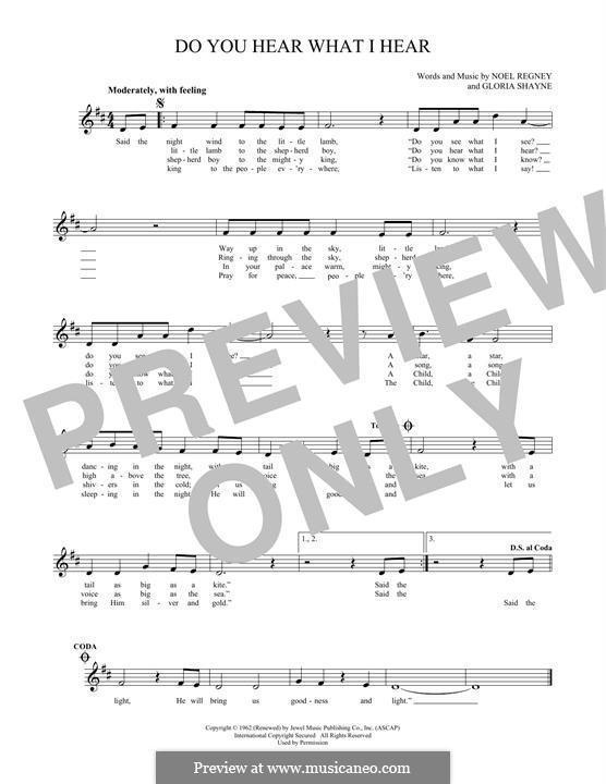 Do You Hear What I Hear: For flute by Gloria Shayne, Noël Regney