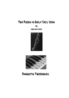Two Pieces in Early Jazz Idiom: For oboe and piano, Op.55d by Panagiotis Theodossiou