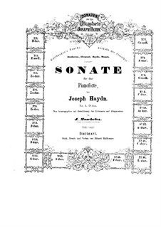 Sonatas for Piano (Collection): Book I by Joseph Haydn