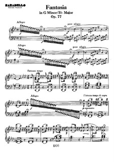 Fantasia, Op.77: For piano by Ludwig van Beethoven