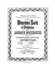 Suite for Orchestra No.2, Op.47: Movements I-III, for piano four hands by Moritz Moszkowski
