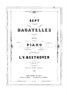 Bagatelles, Op.33: Complete set by Ludwig van Beethoven